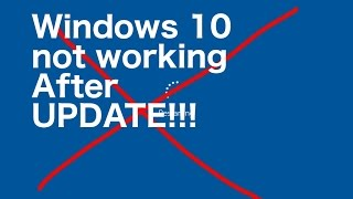 How to recover Windows 10 after an update without a recovery disk