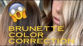 HOW TO HIGHLIGHT BRUNETTE HAIR | COLOR CORRECTION
