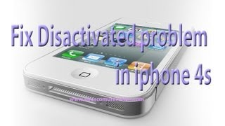 iPhone 5, 4S, 4 disabled, disactivated problem fixing