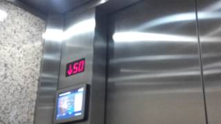 FAST!!! ThyssenKrupp High-Speed Elevators at 1600 Smith Tower in Downtown Houston, TX.