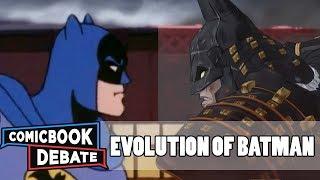 Gambar cover Evolution of Batman in Cartoons in 45 Minutes (2018)
