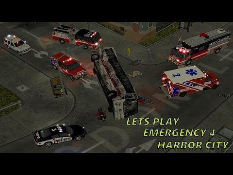 Emergency 4 Harbor City Lets Play (Episode 1) - Electrical Fire Out of Control!