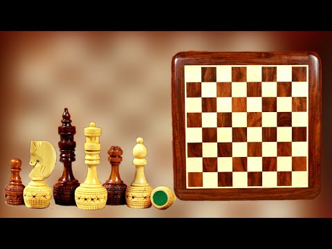 15 Inches Flat Board And Bottle Style Chess Pieces