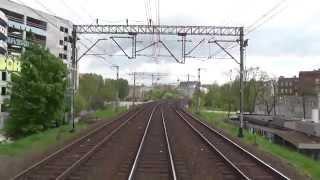 preview picture of video 'Linia kolejowa E59 odcinek Wrocław Główny - Leszno z tyłu pociągu TLK Zefir'