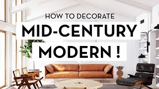 HOW TO DECORATE MID CENTURY MODERN ⬛