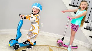 1 Year Old Rides a Scooter! Go Preston Go!!!