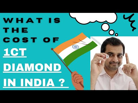 WHAT IS THE COST OF 1 CT DIAMOND IN INDIA?
