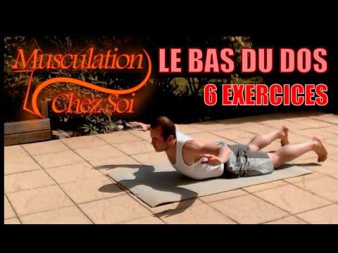 Les exercices de force avec les haltères sur tous les groupes des muscles dans les conditions domest