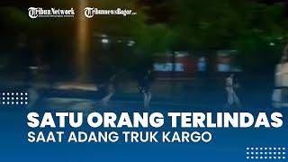Detik-detik Empat Remaja Adang Truk Kargo di Sentul, Satu Orang Terlindas