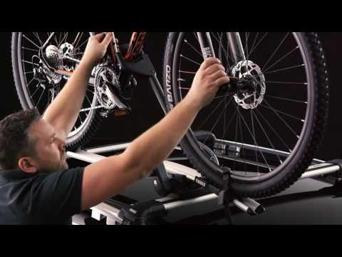 Thule ProRide 598 kerékpártartó tetőre, ezüst
