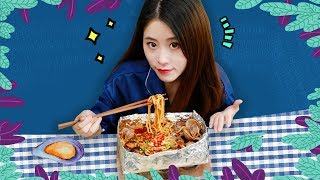 E54 How To Cook Spicy Clam Rice Noodles In Office? | Ms Yeah