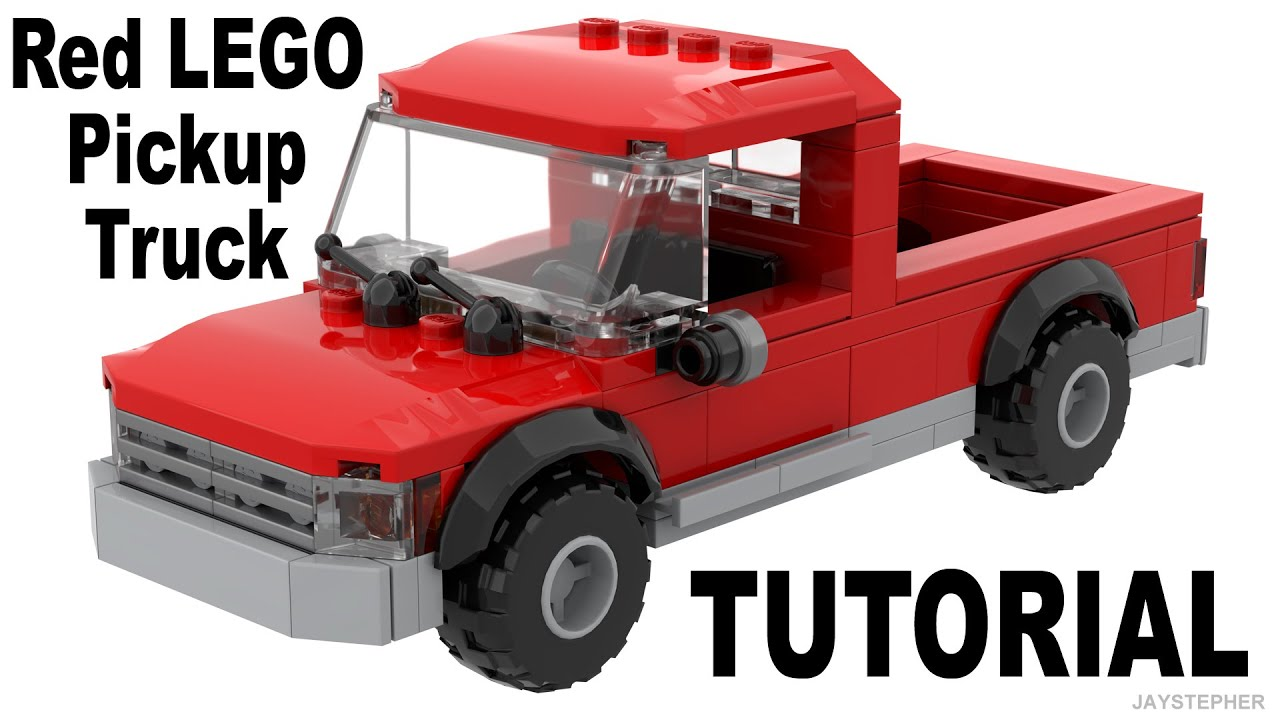Red LEGO Pickup Truck How To Build Tutorial
