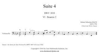 Bach : Suite 4, BWV 1010 (6/7 : Bourrée 2)