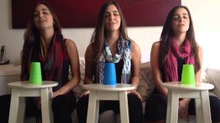 Trigêmeas cantando   All about that bass   cup version