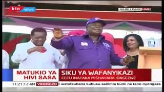 Atwoli and women Mp's enjoy labour day dance
