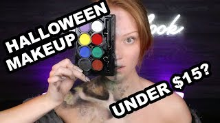 I Tried Walmart Halloween Makeup For Under $10 TOTAL!