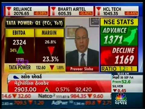 Dr Praveer Sinha, CEO & MD, Tata Power discusses the Tata Power Q1 FY2022 results with CNBC Bazaar