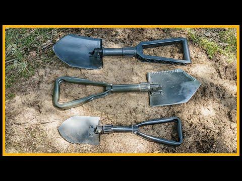 Klappspatenvergleich von Fiskars, Bundeswehr und Semptec - Outdoor Bushcraft Deutschland