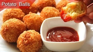 Potato Nuggets   Crispy Potato Balls Tasty and Easy Homemade potato nuggets  Breakfast recipes 2019