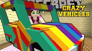 Minecraft: CRAZY VEHICLES! (PLANETS, ROCKETS, & RAINBOW CARS) Mod Showcase