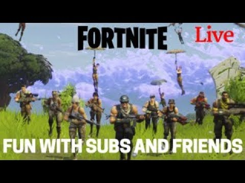 Fortnite fun with Subs and friends. Live stream. Road to 500 subs. Fortnite Season 3. (PS4)
