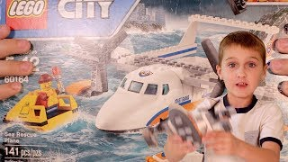 LEGO CITY Coast Guard Sea Rescue Plane (60164) Unboxing, Timelapse Build, Review, And Play Fun