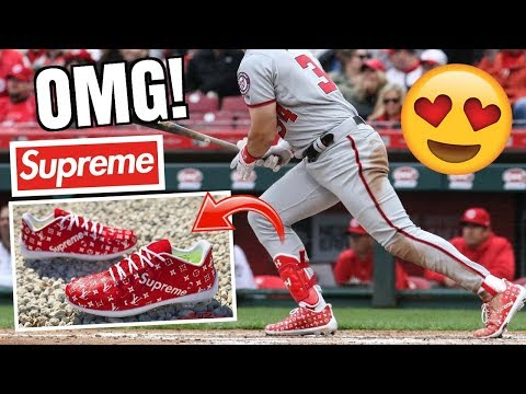 These RARE Custom Baseball Cleats Are INSANE! *SUPREME LIMITED EDITION*