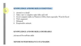 How to write a job description template sample