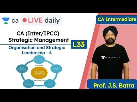 CA (Inter/IPCC) CS & CMA Strategic Management L33   Unacademy CA Intermediate Group 2   J.S. Batra