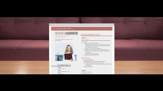 "CV Moderne ""Volontaire"" - by Mycvfactory"