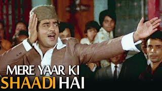 Aaj Mere Yaar Ki Shaadi Hai  Popular Wedding Song  Shatrughan Sinha  Aadmi Sadak Ka