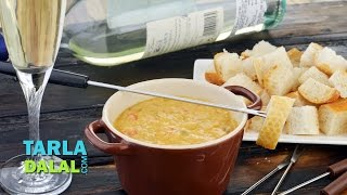 Mexican Cheese Fondue By Tarla Dalal