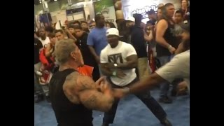 Rich Piana punched/fight LA Expo 2017