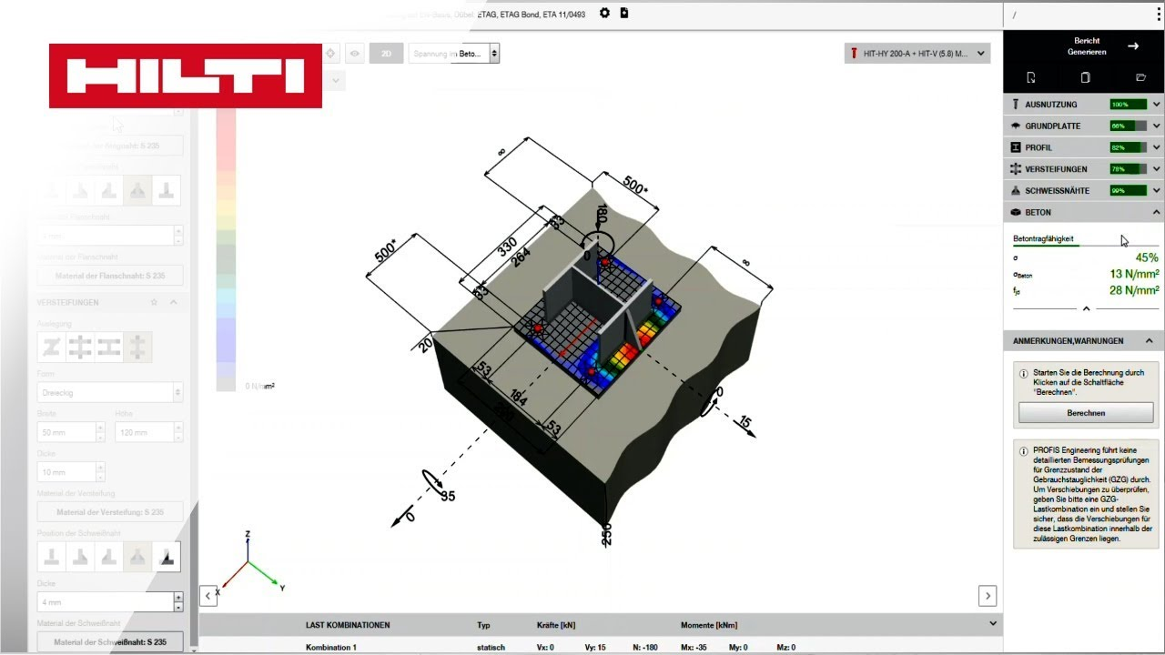 How to use Hilti PROFIS Engineering Suite for concrete design