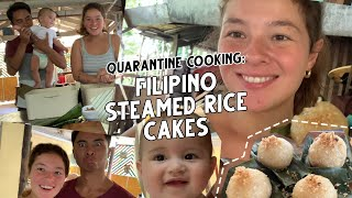 Quarantine Cooking: Filipino Steamed Rice Cakes with Coconut (Puto Bolanghoy)