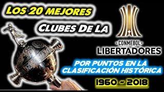 Los 20 Mejores Clubes De La Copa Libertadores, Según La Clasificación Histórica De 1960 A 2018