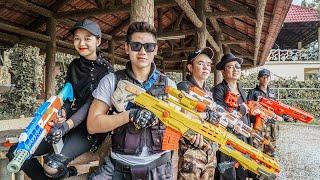 LTT Nerf War : Couple SEAL X Warriors Nerf Guns Fight Criminal Group Dr Mundo Perfect Duo