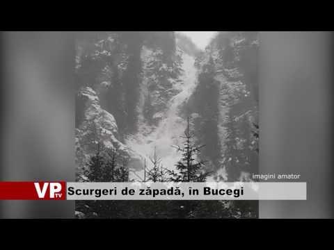 Scurgeri de zăpadă, în Bucegi