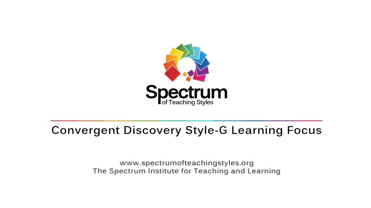 Convergent Discovery Style-G Learning Focus's thumbnail
