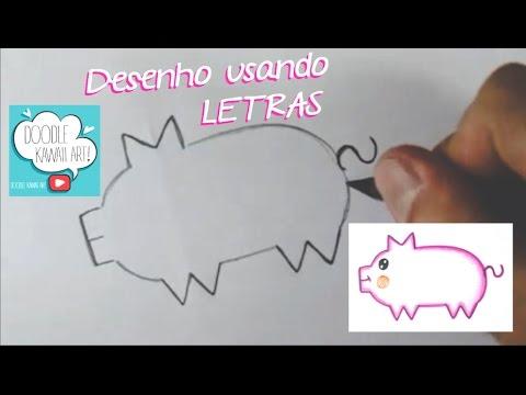 Desenho com Letras