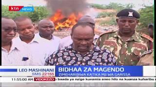 KRA yaharibu bidha ghushi za kiasi cha shilingi milioni moja  kutoka kwa wafanyabishara wa magendo