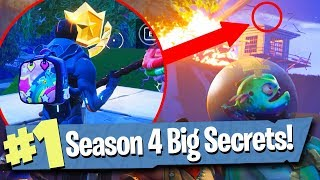 13 SECRETS + EASTER EGGS IN SEASON 4 - Fortnite Battle Royale