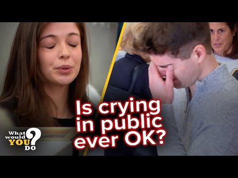 How customers react to a woman vs. man crying in public    WWYD