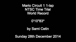 "Super Mario Kart Time Trial NTSC Mario Circuit 1 1-lap:  0'10""83 by Sami Cetin"