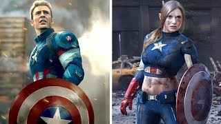 Lady Avengers : Infinity War Characters ( Gender Swap )