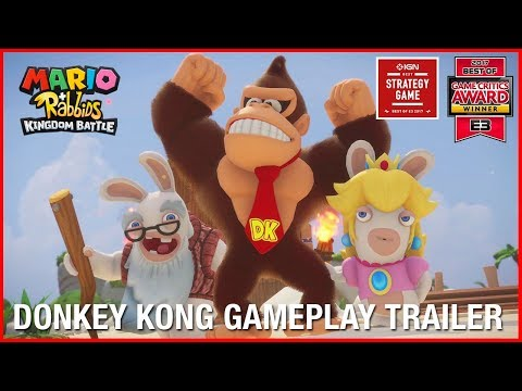 Mario + Rabbids Kingdom Battle: Donkey Kong Adventure DLC | Gameplay Trailer | Ubisoft [NA] thumbnail