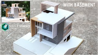 MODEL Of A MODERN RESIDENTIAL BUILDING With BASEMENT.