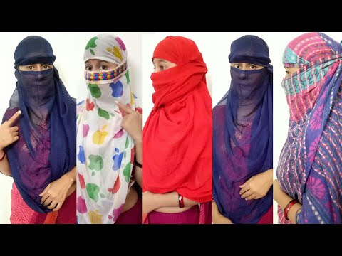 How to wrap face with Stole/Dupatta on Saree in just 1 min / 4 steps face cover tutorial