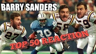 BARRY SANDERS TOP 50 REACTION. (WHY CAN NO ONE TACKLE HIM)