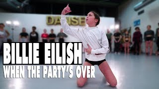 Billie Eilish - when the party's over | Contemporary Dance | Choreography Sabrina Lonis